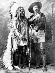 ba509f28e18 Annie with rifle Chief sitting Bull with Buffalo Bill Cody ...